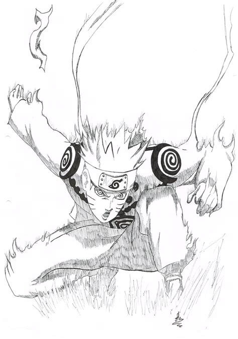 nine tails coloring pages