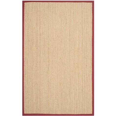 home depot seagrass rug safavieh fiber beige 8 ft x 10 ft area rug nf115d 8 the home depot