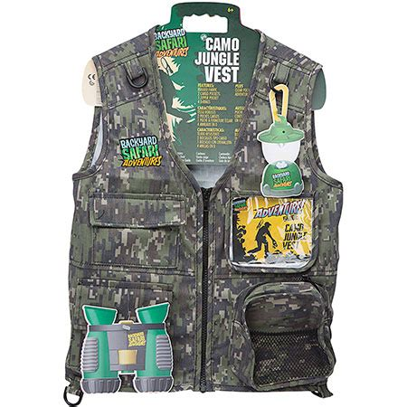 Backyard Safari Cargo Vest by Backyard Safari Cargo Vest Jungle Camo