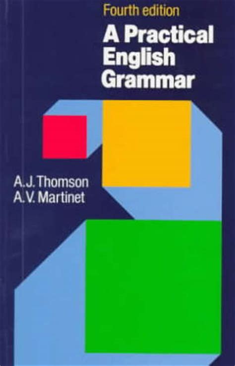 Tomson And Martinet Grammar practical grammar thomson a j martinet a v oxford press libro