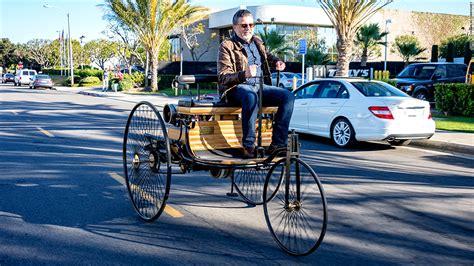 first mercedes benz 1886 1886 benz patent motorwagen driving the world s first