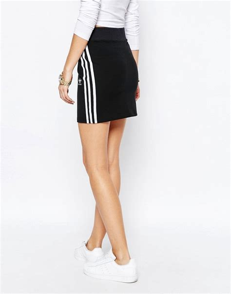 skirt with logo adidas adidas originals adicolour mini bodycon skirt
