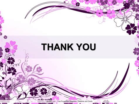 thank you ppt themes free download wavy purple floral ppt design download free daily