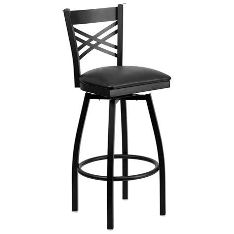restaurant quality bar stools swivel x back metal barstool