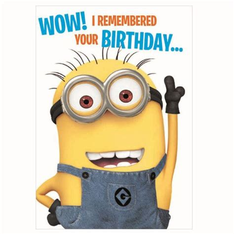 17 best ideas about minion card on bday cards