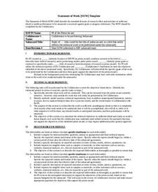 exle statement of work template statement of work template 12 free pdf word excel