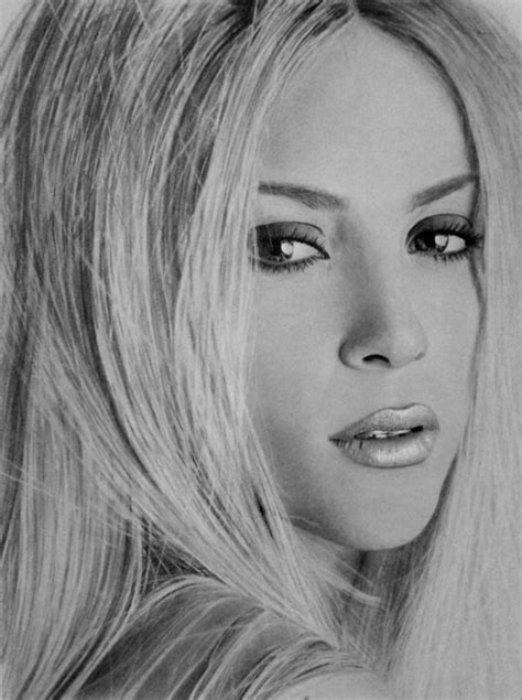shakira drawing my pencil drawing of shakira by alexart1994 on deviantart
