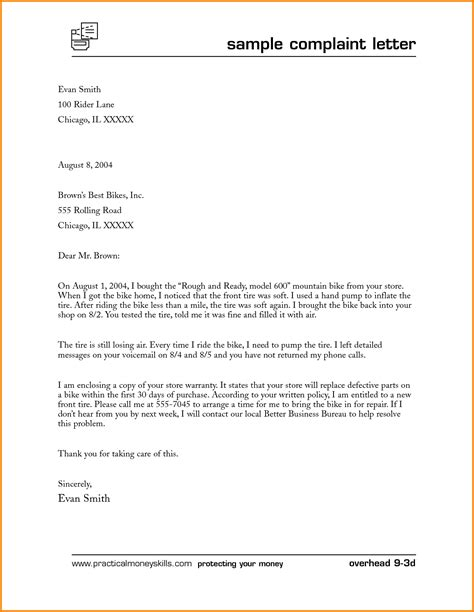 Complaint Letter Template Estate Sle Complaint Letter To Attorney General Cover Letter Sle 2017