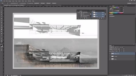 como resaltar tus cortes arquitectonicos  photoshop