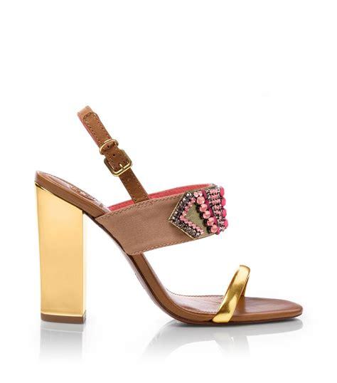 burch high heels lyst burch high heel sandal in
