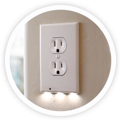 receptacle night light cover snappower guidelights new snappower