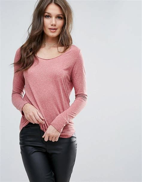 Vero Moda Sleeve Blouse by Vero Moda Burn Out Sleeve Top In Pink Lyst