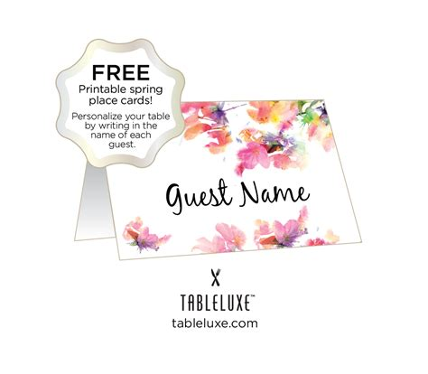 how to make table name cards tableluxe printable place cards