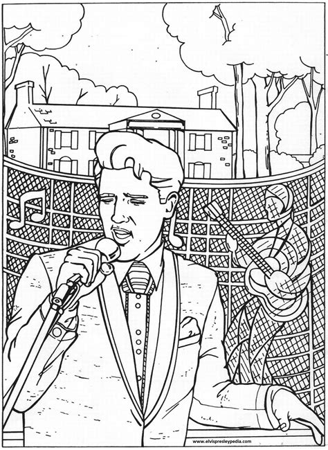 Elvis Coloring Pages 2015 2016 in memory of elvis quot coloring