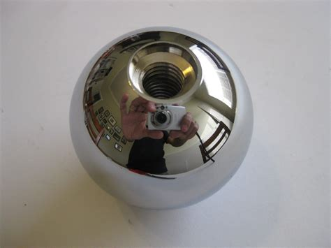 chromed billet aluminium gear shift knob 2 1 4 quot chev