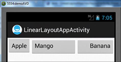 elements in linearlayout linearlayout laying out controls in android containers