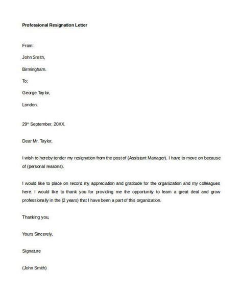 Resignation Letter For Assistant Professor Pdf 30 resignation letter formats templates pdf doc