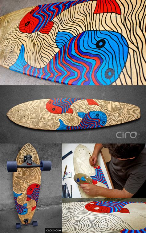 longboard deck styles the fishes longboard deck design ii by cirodg on deviantart