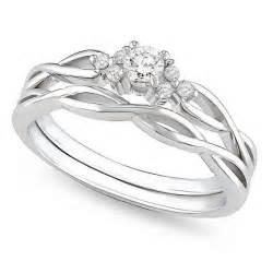 Infinity Engagement Ring Set Affordable Infinity Wedding Ring Set In 10k White