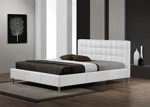 le de lit lit adulte design coloris blanc maxence lit chevet