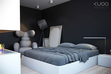 black white gray bedroom bold decor schemes