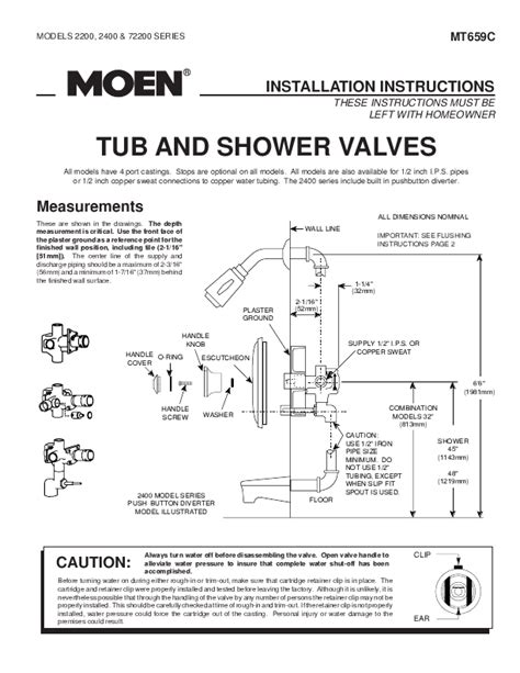 Valve Repair Cover Letter by Moen Transfer Valve Cartridge Removal Wiring Diagrams Repair Wiring Scheme
