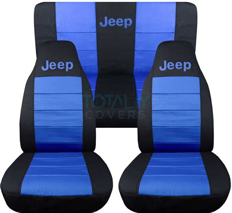 white seat covers for jeep wrangler jeep wrangler yj tj jk 1987 2017 2 tone seat covers w logo