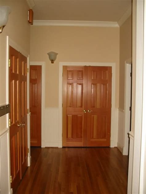 how our interior doors would look with trim painted white