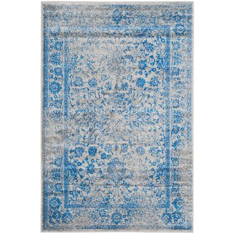 blue rugs 6 safavieh adirondack grey blue 4 ft x 6 ft area rug adr109a 4 the home depot