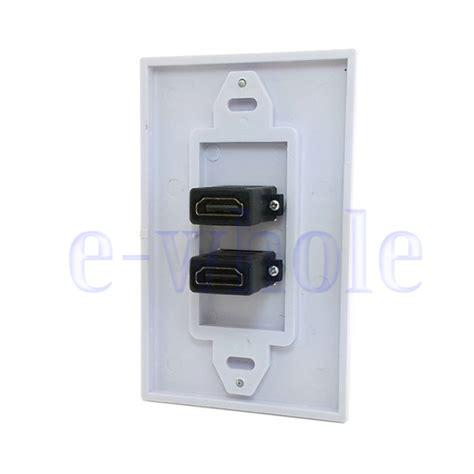 Faceplate Hdmi Panel Oulet Socket Murah dual hdmi ports wall outlet socket panel faceplate media