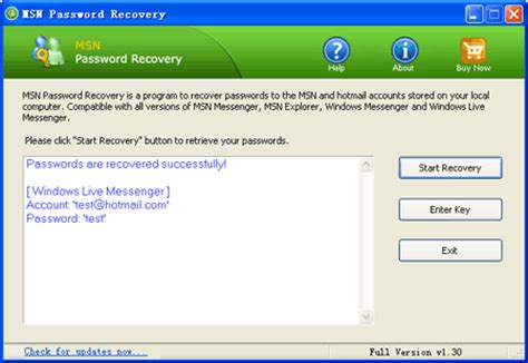 Msn Finder Msn Password Recovery Msn Messenger Password Finder Find And Recover Msn