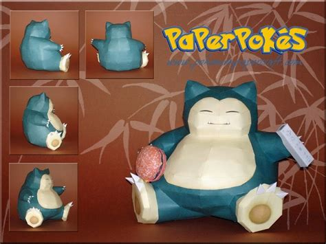 Snorlax Papercraft - paperpok 233 s pok 233 mon papercraft snorlax v2 version