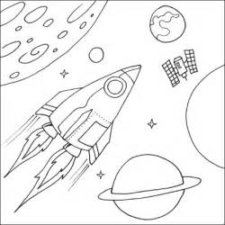 space coloring pages space rocket printable