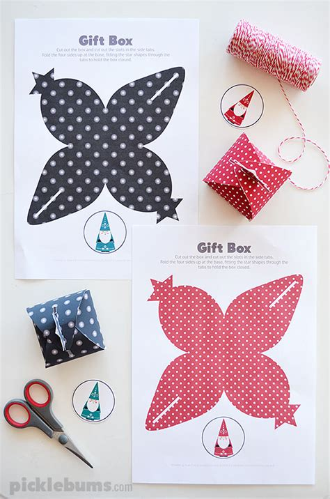 printable gift boxes let s wrap free printable gift boxes picklebums