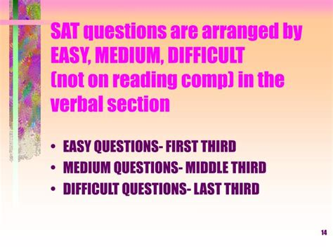 verbal section of sat ppt learning about the sat and act powerpoint