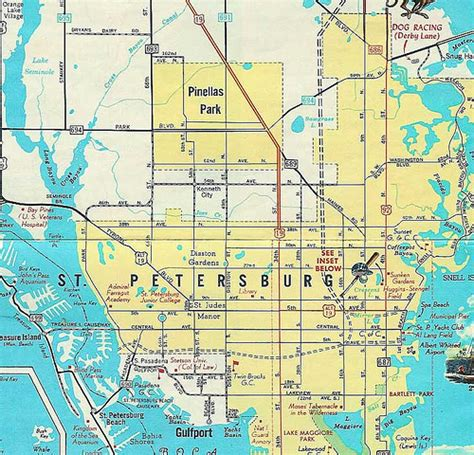 1961 map of st petersburg fl flickr photo