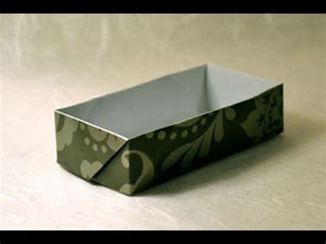 Origami Rectangle Box - origami rectangular box www origami