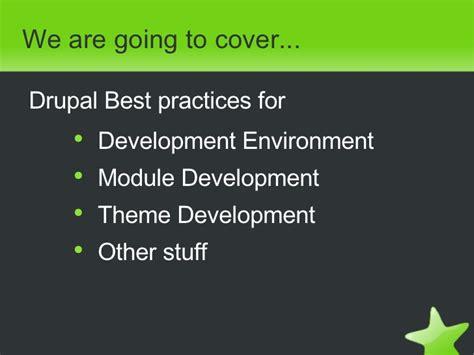 drupal theme developer module drupal best practices