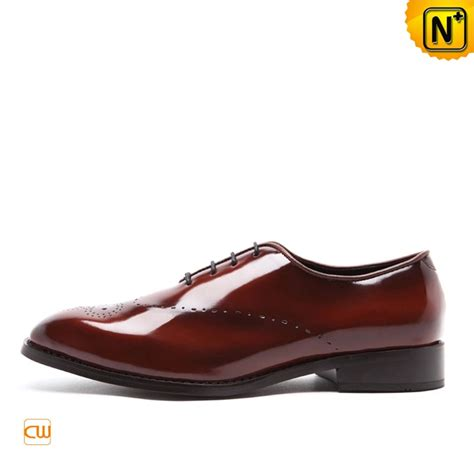 mens designer brown leather brogue shoes cw762043