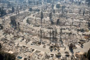 California Photos California Smolders In Of Deadly Fires New York Post