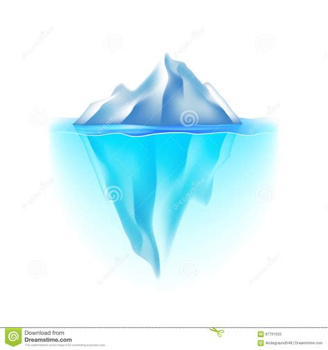 picture illustration iceberg on white vector stock vector image of clip 67751022