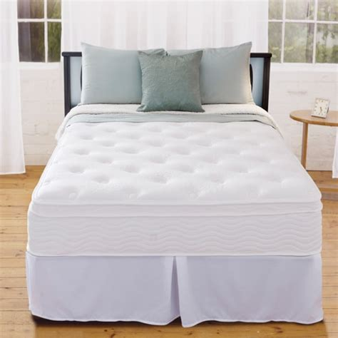 full bed box spring priage 12 inch euro box top full size icoil spring mattress and steel foundation set free