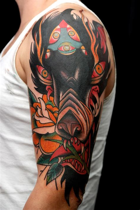 wolf traditional tattoo wolf tattoos designs ideas and meaning tattoos for you