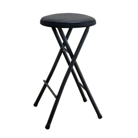 Cosco 24 Inch Folding Stool by Cosco 24 Inch Plastic And Metal Folding Stool 37801blk4