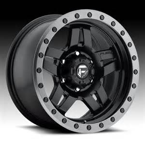 Truck Wheels Custom Fuel Anza D557 Matte Black W Anthracite Ring Custom Truck