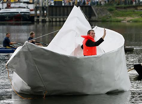 How To Make A Big Boat Out Of Paper - artist sets sail in size paper boat daily mail