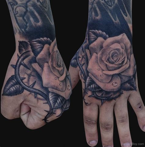 hand flower tattoo parts tattoos designs pictures