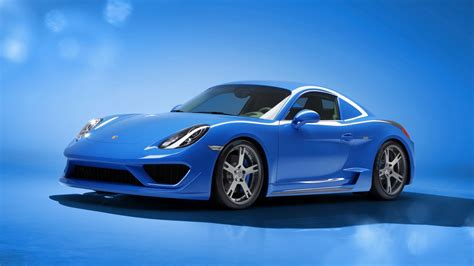 Cool Car Wallpapers 1366 78006 Homes by 2014 Studiotorino Porsche Cayman Moncenisio Blue Wallpaper