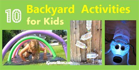 fun backyard activities kids backyard activities outdoor goods