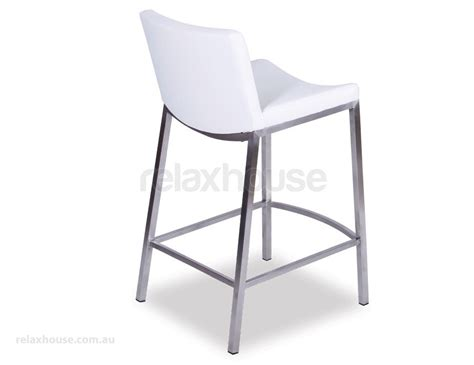 Padded Kitchen Stools by Modern White Padded Kitchen Bar Stool